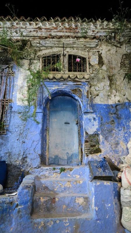 Porte ancienne à Chefchaouen