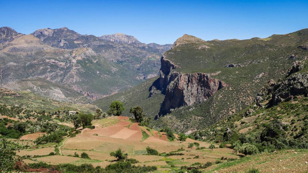 Les montagnes d'Akchour, région de Chefchaouen