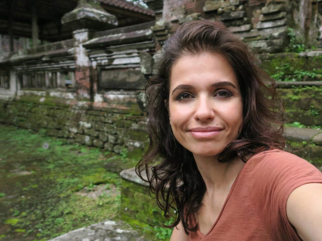 Autoportrait au temple de Pura Mengening