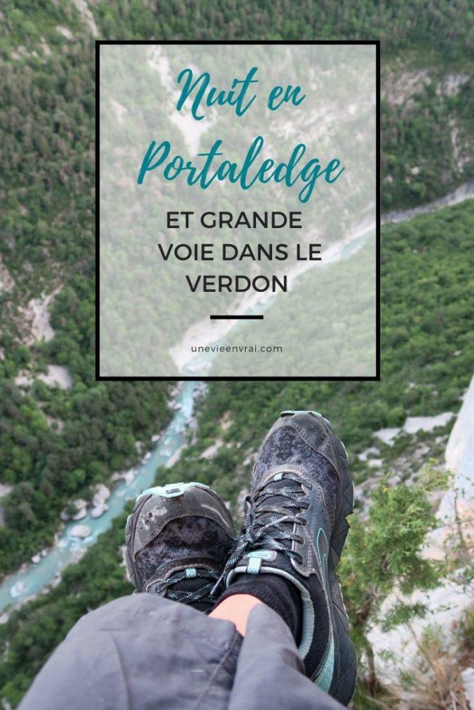 Nuit en Portaledge et grande voie dans le Verdon