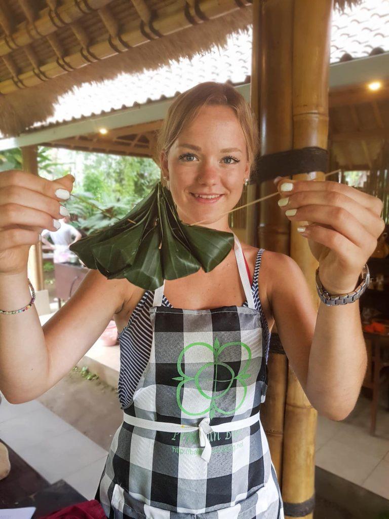 Bouchées vapeur préparée au cours de cuisine à Bali
