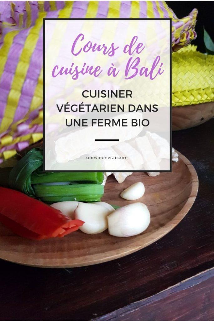 Cours de cuisine à Bali, épingle pinterest pour unevieenvrai.com