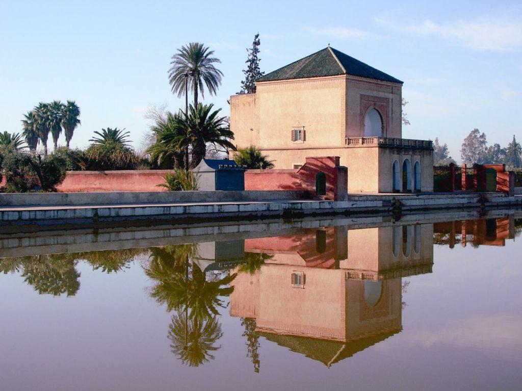 Le jardin de la Ménara, son pavillon et son bassin