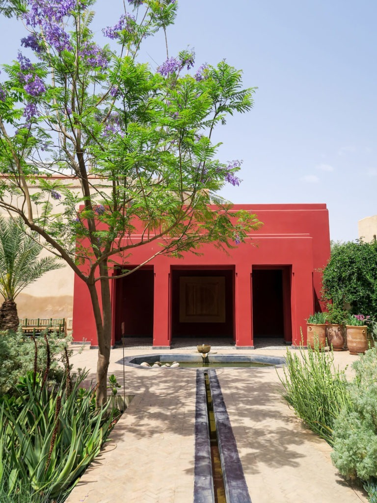 Pavillon du jardin tropical au Jardin Secret de Marrakech
