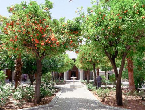 Patio dans le Musée des Confluences de Marrakech