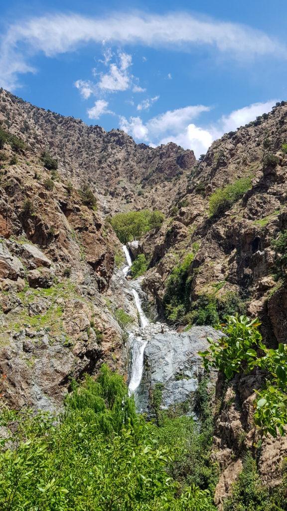 Cascade de Setti Fatma au Maroc, dans la vallée de l'Ourika au Maroc