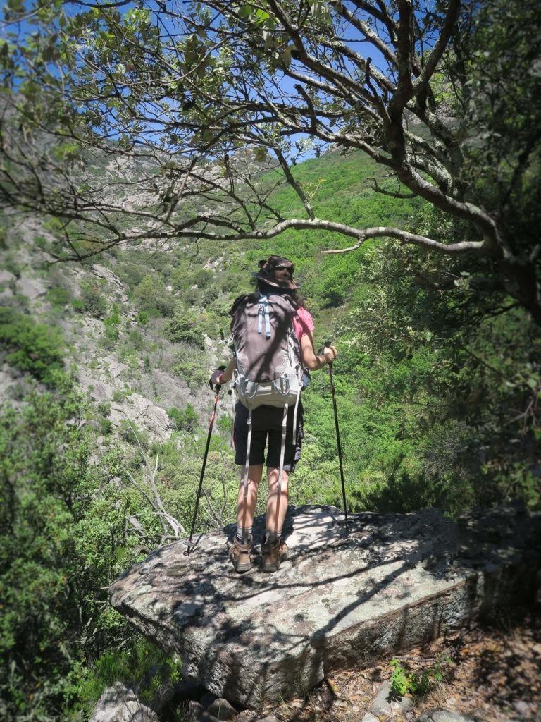 Descente de la cascade d'Albine vers Colombières