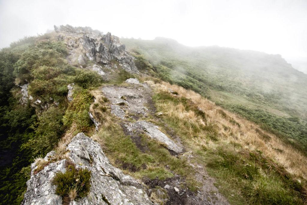 Monts d'Arrée sous la pluie et la brume