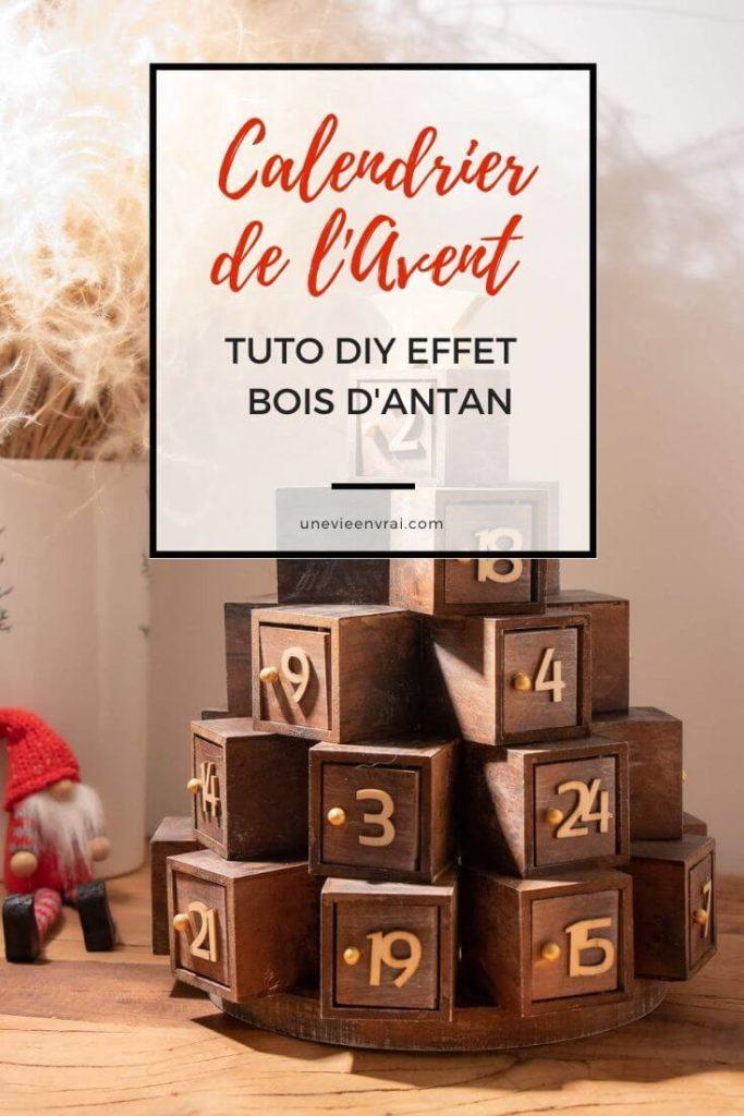 Calendrier de l'avent DIY en bois Pinterest Cover
